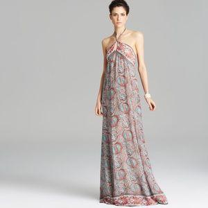 Rachel Zoe Cross Strap Silk Maxi Dress-NWT
